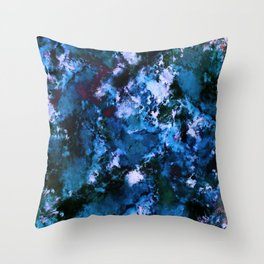 Smouldering blue Throw Pillow