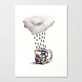 Rain in My Coffee Canvas Print