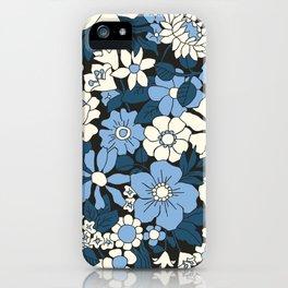 Bloom in blue iPhone Case