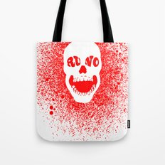 RUNO SKULL EYES Red Tote Bag