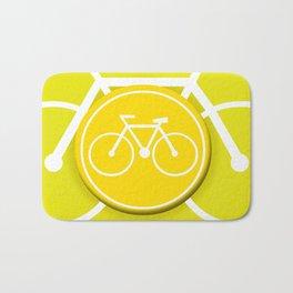 Lemon Bicycle Icon Bath Mat