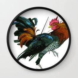 Greg, the Fighting Cock  Wall Clock