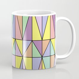 Pastel Triangles - Geometric Pattern Coffee Mug