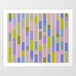 Pastel colored blocks Art Print