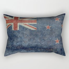 New Zealand Flag - Grungy retro style Rectangular Pillow