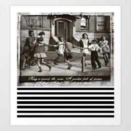 Ring Around the Rosie Art Print