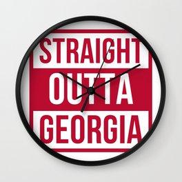 Straight Outta Georgia Print Wall Clock
