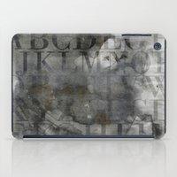 alphabet iPad Cases featuring Alphabet by cafelab