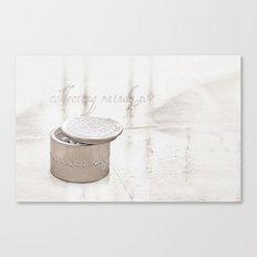 Collecting raindrops Canvas Print