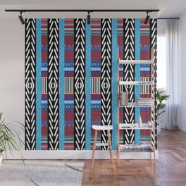 Black Blue Etnic Wall Mural
