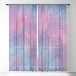Purple Space Dream  Sheer Curtain