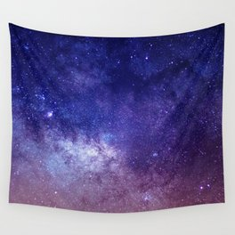 STARS - NIGHT - GALAXY - PURPLE - PINK - INDIGO Wall Tapestry