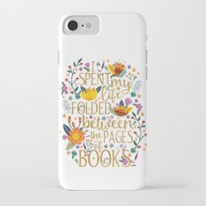 Folded Between the Pages of Books - Floral iPhone 7 Slim Case