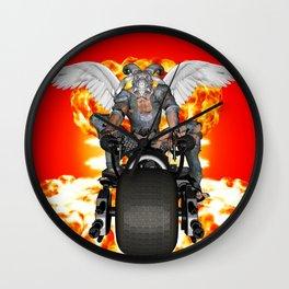 Biker of the Apocalypse-Conquest Wall Clock