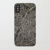 brussels iPhone & iPod Cases featuring brussels map by Les petites illustrations