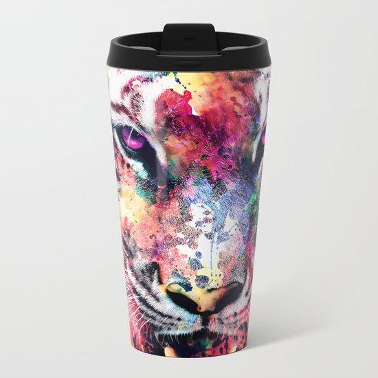 Eye Of The Tiger Metal Travel Mug