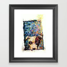 See what's outside Framed Art Print
