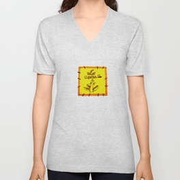 tree with a computer , telephone and other device . https://society6.com/vickonskey/s?q=popular+prin Unisex V-Neck