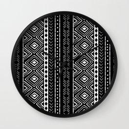 Black Mudcloth Wall Clock