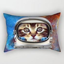 Astronaut Cat #2 Rectangular Pillow