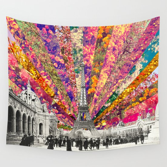 Vintage Paris Wall Tapestry By Bianca Green