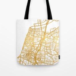 TEL AVIV ISRAEL CITY STREET MAP ART Tote Bag
