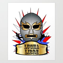 Lucha Champion Art Print