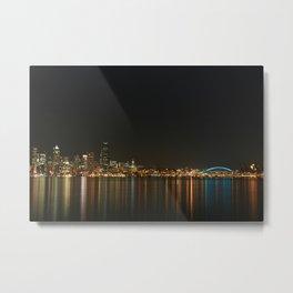Beautiful Skyline of Seattle Metal Print