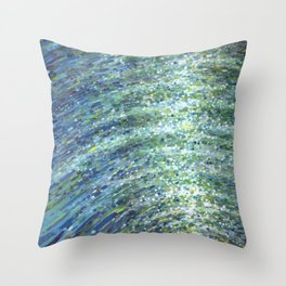 Shimmerin Ocean Wave Reflections Throw Pillow