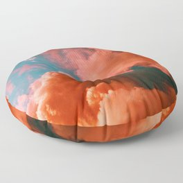 The Pink Clouds (Color) Floor Pillow