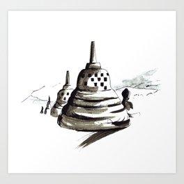 Borobudur calm Art Print
