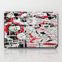 notebook iPad Cases featuring Notebook Words Boil Through Textured Burning by Garth Simmons
