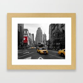 Intersection between Broadway and the Avenue of the Americas, New York City Framed Art Print