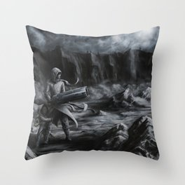 Sisters Against the World Throw Pillow