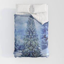 Christmas tree scene Comforters