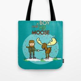 A BOY & HIS MOOSE Tote Bag