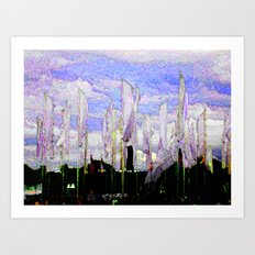JAZZ FIELD Art Print