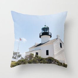 Old Point Loma Lighthouse - I Throw Pillow