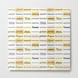 Words Metal Print