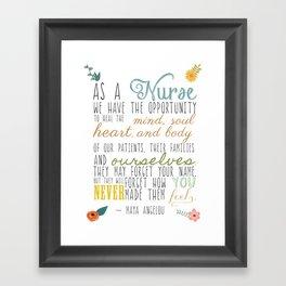 As a Nurse... Framed Art Print