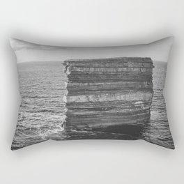 Dun Briste II Black and White Rectangular Pillow