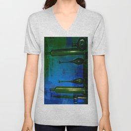 glass is green Unisex V-Neck