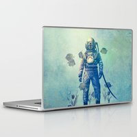 diver Laptop & iPad Skins featuring Deep Sea Garden  by Terry Fan