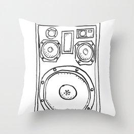 loudspeaker Throw Pillow