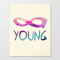 forever young Canvas Prints featuring Forever Young by Jacqueline Maldonado