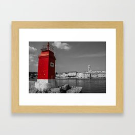 Red Lighthouse Framed Art Print
