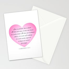 Inspirational Love Bible Verse Valentine's Day Calligraphy Stationery Cards