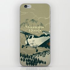 Mountains Hide in Clouds II - Tan iPhone & iPod Skin