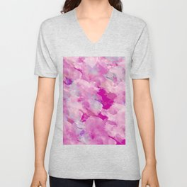 Abstract 46 Unisex V-Neck