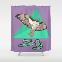 So Fly Hawk Shower Curtain